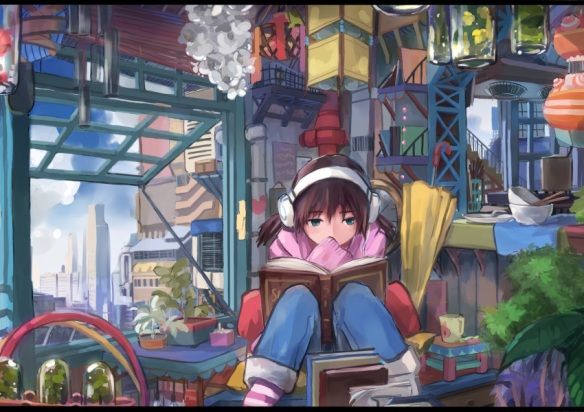 dlkdhy - Girl Reading Book