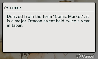Comike? I would been fine with Comiket.